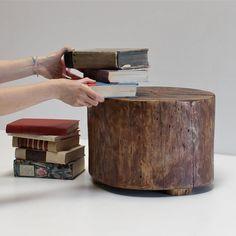 Tree Stump Floor Table Kids Play Art Desk Foot by realwoodworks1