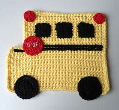 "Free pattern for ""Judy - the School Bus Driver Dishcloth""!"