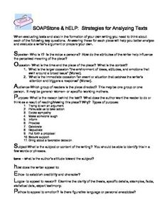 image result for soapstone english google soapstone text analysis strategy easy printable - Soapstone Worksheet
