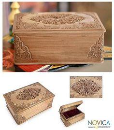 Floral Wood Jewelry Box - Eden Tree   NOVICA