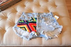 aztec jeans shorts. Obsessed