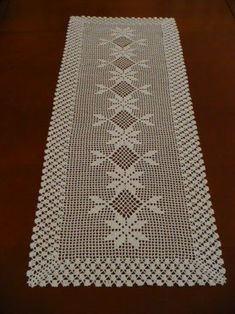 Learn To Crochet Turkish Stitch Reversible And Crochet Table Runner Pattern, Crochet Doily Patterns, Crochet Tablecloth, Crochet Chart, Thread Crochet, Filet Crochet, Crochet Doilies, Diy Crafts New, Diy Crafts Crochet