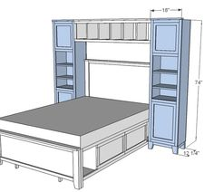 This would be great for a bed without a headboard, adds shelf space too :)