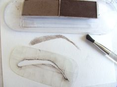 Make your own eyebrow stencils