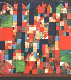City Picture with Red and Green Accents - Paul Klee