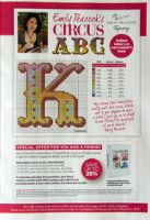 Circus ABC - Summerville CROSS STITCH alphabet K