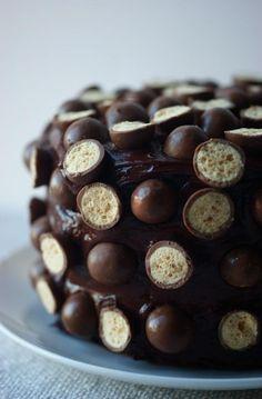 Delicious chocolate vanilla balls cake