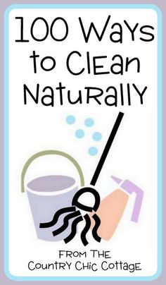 Great list of 100 ways to clean naturally in your home.  Who needs pricey cleaners and harsh chemicals?  Use vinegar, baking soda, lemon, and cream of tartar on all of your surfaces.
