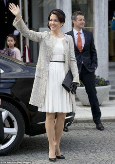 Fit for a princess! Mary looked classic in cream for more birthday celebrations earlier in...