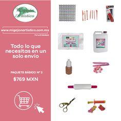 Todo esto lo encontrarás en nuestra tienda, estás a un solo clic!!. Adquiere tu paquete básico y comienza a crear!! http://www.migajonartistico.com.mx/pro%E2%80%A6/paquete-basico-no-2/ #PorcelanaFría #PastaFlexible #MigajónArtístico