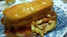 "Today , the dinner is "" Francesinha """