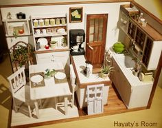 Miniature Modern Kitchen Room Box