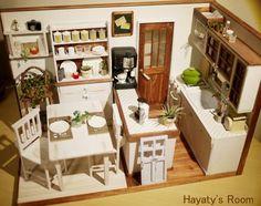 Miniature Modern Kitchen Room Box