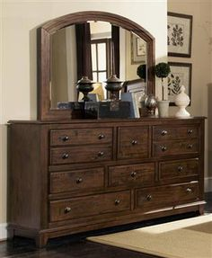 laughton rustic cocoa brown wood dresser - Bedroom Dresser Decorating Ideas