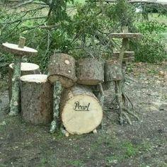 'natural' drum set