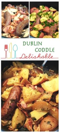 Dublin Coddle - a traditional Irish recipe with sausage, bacon, onions and potatoes. Hearty, filling and very satisfying, it is comfort food at its best.