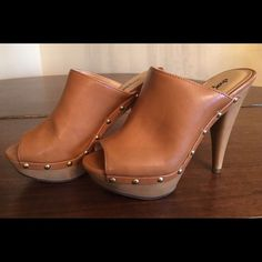 Charlotte Russe tan heels Charlotte Russe tan heels. Size 6, bought them too small from a posher. They are beautiful and brand new. Shoes Heels