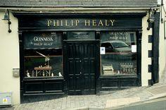 Old Irish Pub Front, Wicklow, Ireland..
