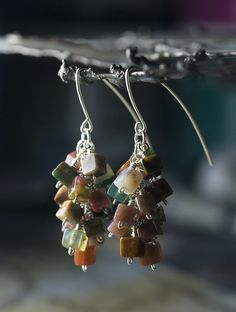 Indian Agate Sterling Silver Cluster Earrings by Moss & Mist Jewelry by Moss & Mist Jewelry, via Flickr