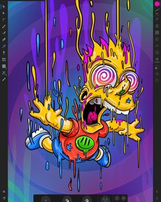 Melting Bart, The SimpsonsYou can find The simpsons and more on our website.Melting Bart, The Simpsons Graffiti Art, Graffiti Wallpaper, Trippy Wallpaper, Cartoon Wallpaper, Simpsons Drawings, Simpsons Art, Trippy Drawings, Art Drawings, Alien Drawings