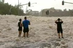 strange weather pictures | Rough Weather Whips Up Strange Foam In Australia | IBTimes TV