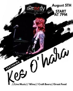 "***Live Music Tonight*** Music Guest: @Kes O'hara 8/5/17 Live Music starts at 7:00pm  Baptized in a fiery pool of whiskey soaked rock, and schooled in the fine art of bitchin' tunes, Kes O'Hara cut her teeth playing to ""tradies"" in Outback pubs around Australia, from the age of 14.  No stranger to the music scene, Kes completed her apprenticeship fronting several professional cover bands, before rocking stages Australia wide as the charismatic front woman of original acts The Filthy Rich…"