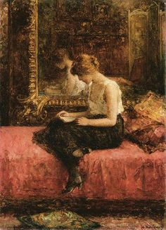 Literary Pursuits of a Young Lady by Harlamoff Alexej.
