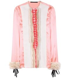 mytheresa.com - Iteso ruffled silk blouse - Luxury Fashion for Women / Designer clothing, shoes, bags