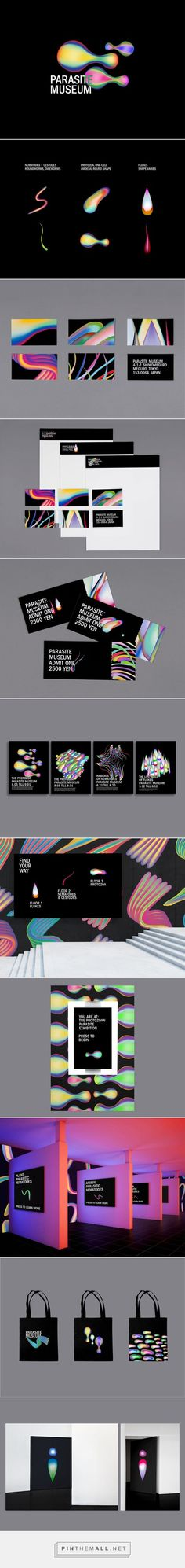 Parasite Museum on Behance by Joclyn Tsiah curated by Packaging Diva. Rebranding of the existing Meguro Parasite Museum of Tokyo. Not a whole lot of packaging but I couldn't resist the colors and the design : ):