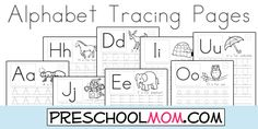 FREE Alphabet Tracing Pages from Preschool Mom!