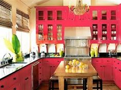 Bright And Colorful Kitchen Design