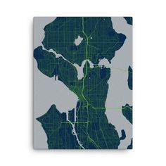 Seattle Seahawks Map Canvas