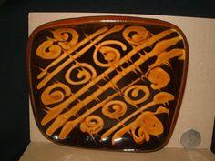 Slipware Dish, signed T. William