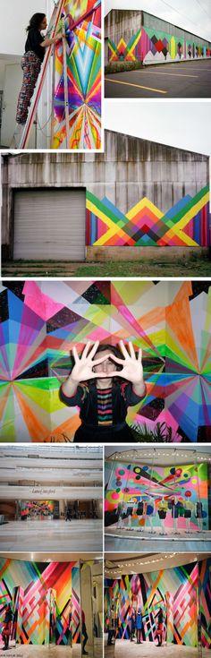Art Installation: Maya Hayuk barn piece