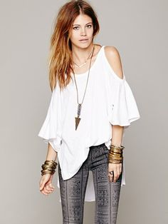 Free People FP New Romantics Echo Me Floral Top at Free People Clothing Boutique