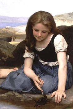 The Crab, 1869 – William-Adolphe Bouguereau