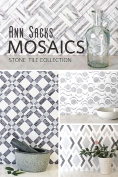 Kiss boring walls goodbye with ANN SACKS Mosaics stone tile collection. Great for backsplashes, floors, shower walls, and more.