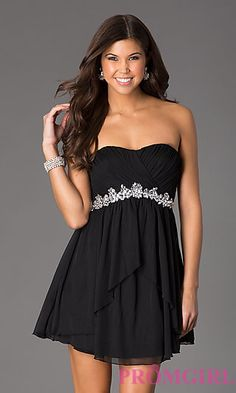 Strapless Little Black Dress at PromGirl.com #promgirl #dress #prom #preview