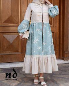Beautiful Dress Designs, Stylish Dress Designs, Designs For Dresses, Stylish Dresses, Modest Fashion Hijab, Abaya Fashion, Muslim Fashion, Fashion Dresses, Mode Abaya