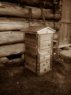 A beautiful Eco Bee Box beehive for the beekeeper that is tired of painting and repainting, warping and repairs.  Beauty with age.