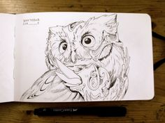 #Inktober day 02 Well.. let's draw owly things :D. #inktober2016 #ink #owl #sketchbook #mymoleskine #Coliandre #XavierCollette http://ift.tt/2d5Pxyr