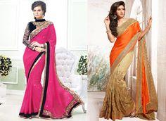 Latest fashion saree with elegant look by Mehta Saree Centre.