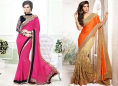 Latest fashion saree with elegant look by Mehta Saree Centre.