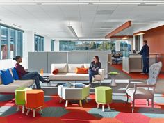 McKesson's new office, designed by IA Interior Architects, features different types of work areas to encourage employees to move around and increase productivity.