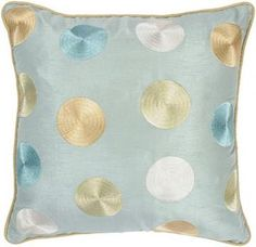 Fulton Pillow in Aqua...nice soft colors to add to the chaise.