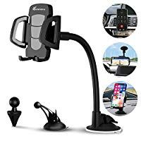 Cell Phone Holder Combo Car Air Vent Mount Holder Cradle and 5V 3.1A Dual USB High Speed Car Charger Compatible with iPhone Xs//XS Max // 8//7 // 6 and Other Phones Samsung Galaxy S9+ Google Pixel 3 XL