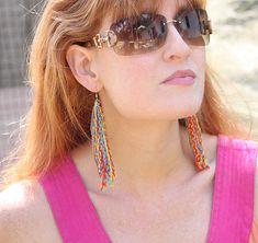 DIY Braided Fringe Earrings