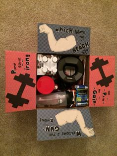 Package #3: workout themed! Came up with the ideas for decor all on my own. :)