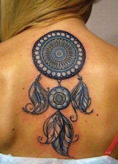 tatuagem apanhdor de sonhos colorido