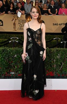 Emma Stone in Alexander McQueen - Every Best Dressed Look from the 2017 SAG Awards  - Photos